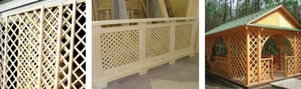 деревянные декоративные решетки