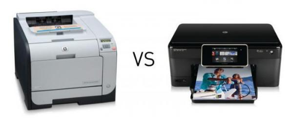 лазерный и струйный принтер
